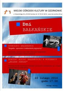 bałkany - plakat koncert i opowieści