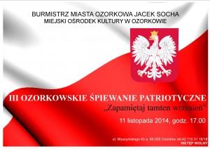 plakat Patriotyczne śpiewanie